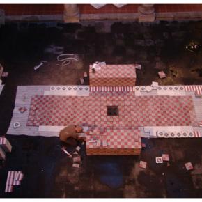 """""""Ta_patio"""", proceso de instalación temporal, exhibición """"Nadie Recuerda Todo"""", Museo de la Ciudad, Alejandro Fournier, 2008"""