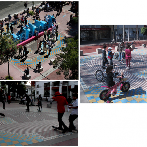 Usuarios utilizando el espacio, paseo Chapultepec
