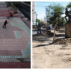"""""""Ta_patio"""", proceso de construcción, reubicación del niño Héroe Juan Escutia, Paseo Chapultepec, Alejandro Fournier, 2009-2011"""