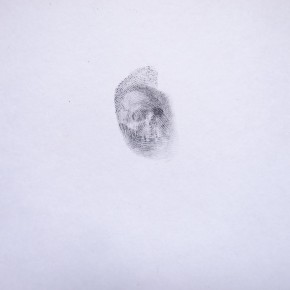 Memento Mori 4, 2015, Daniel E Acuña T, grafito sobre papel, 9.8x9.5 cm