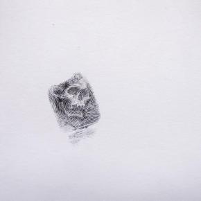 Memento Mori 7, 2015, Daniel E Acuña T, grafito sobre papel, 9.8x9.5 cm